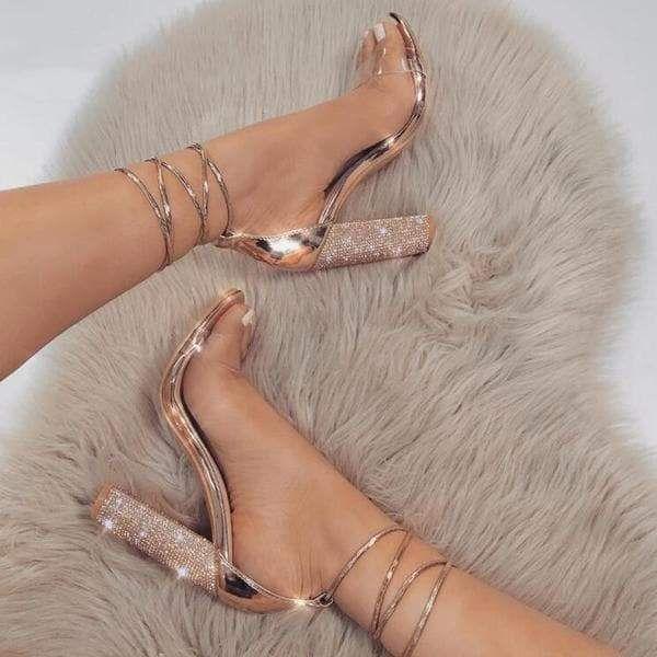 Angelic Diva Rhinestone Heels