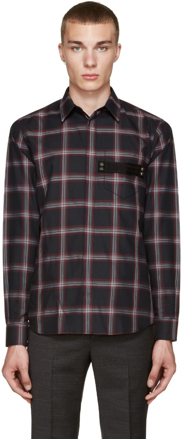 Givenchy - Black Plaid Shirt