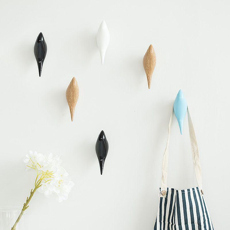 3D Sculpture Bird Wall Hook Hanger Cloth Hat Coat Key Rack Organizer Home Decor