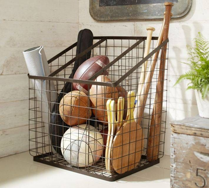 Kellan Equipment Organizer  Pottery Barn I Love It.keeps All (enough  Anyway) Sports Equipment Organized.