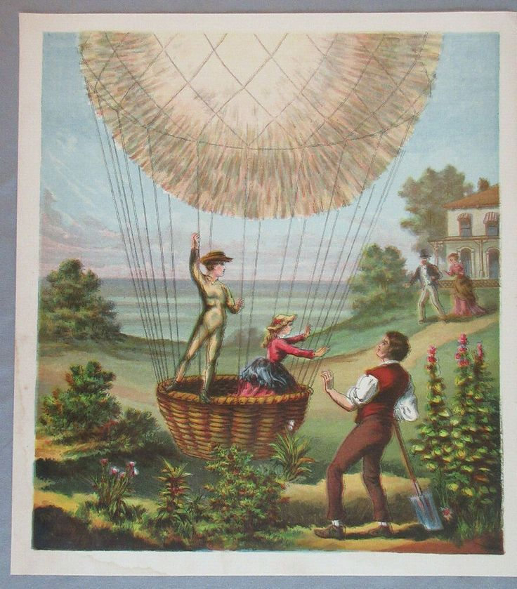 Details about VICTORIAN HOT AIR BALLOON AVIATION TRAVEL
