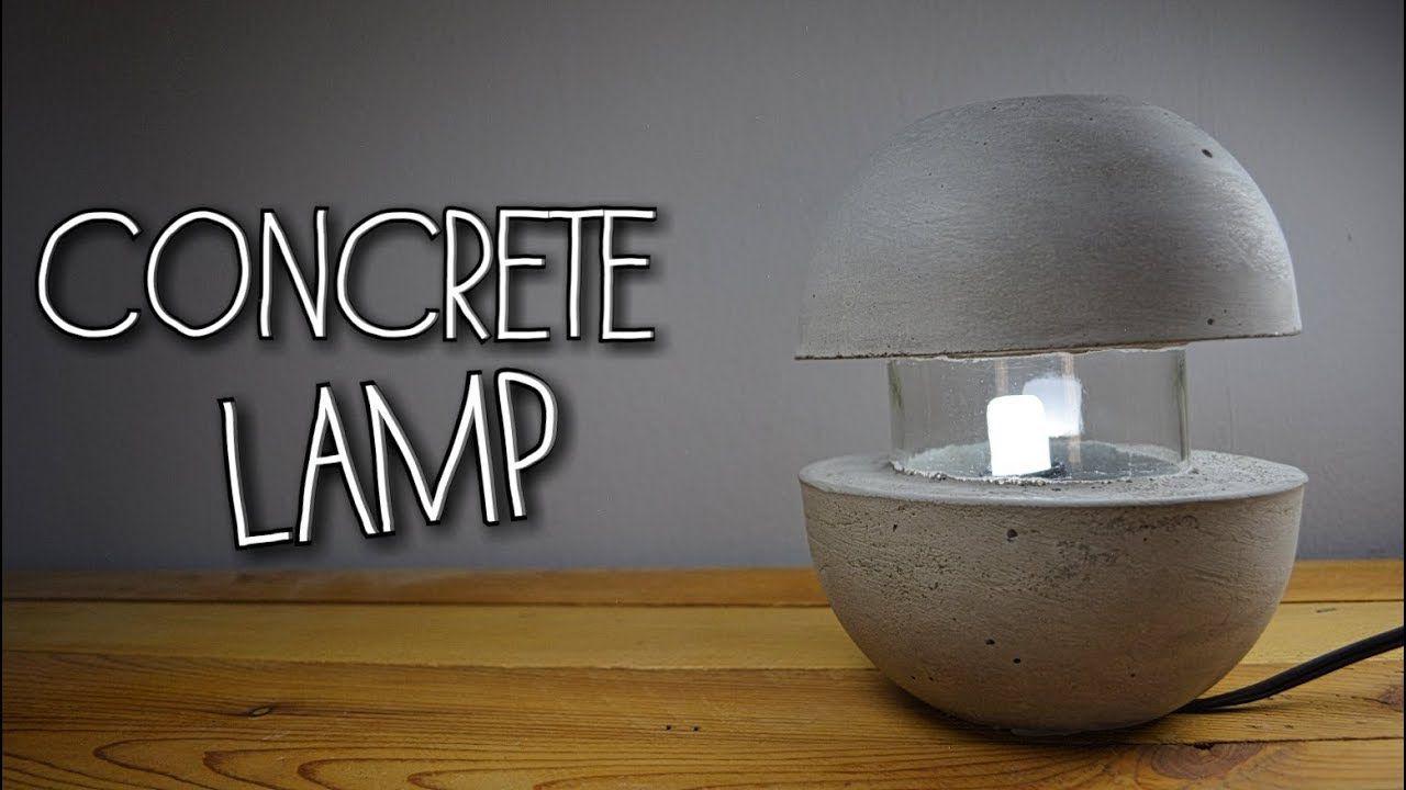 CONCRETE LAMP - HOME DECOR (English subtitles)   Beton   Pinterest ...