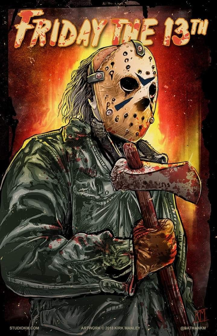 "Horror Movie Poster Art ""Friday The 13th"" 1980, by"