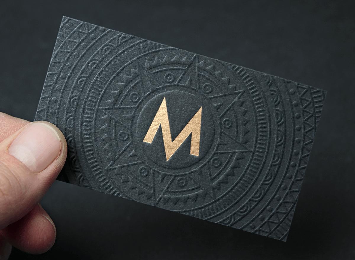 Maya Business Card Business Card Design Inspiration Luxury Logo Design Luxury Business Cards Luxury Brand Logo