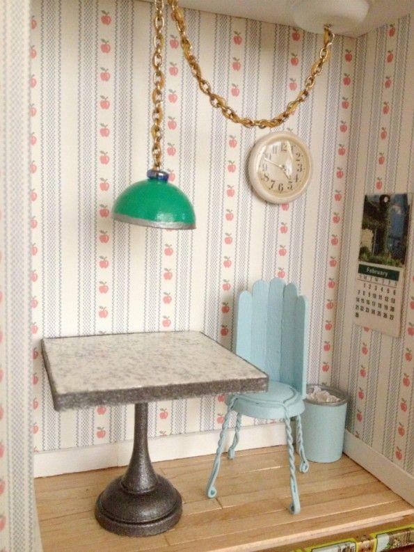 DIY Dollhouse Miniature Formica Pedestal Table