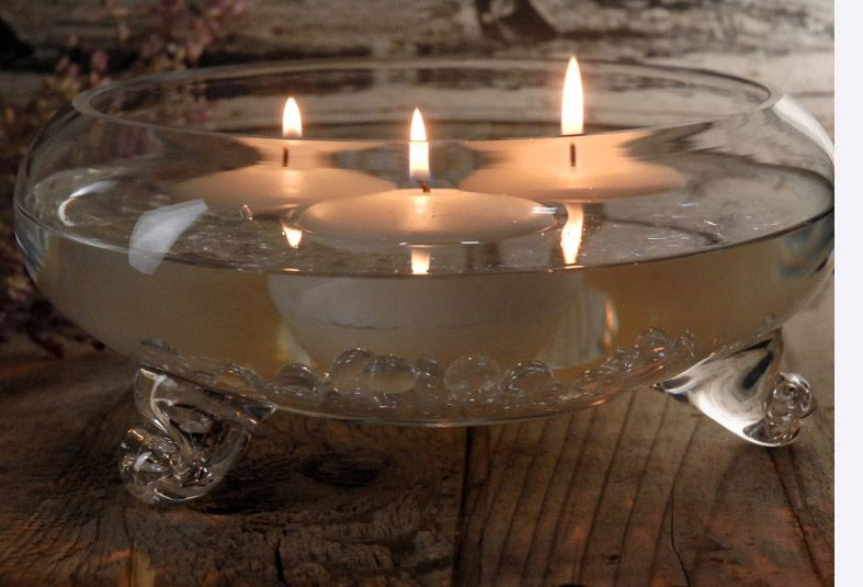 Floating Candle Bowls Footed Clear Glass 9 14 Each 4 For 11