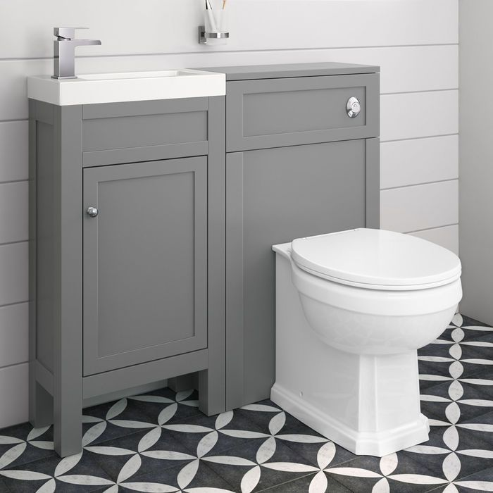 Melbourne Cloakroom & Cambridge Back To Wall Toilet Unit