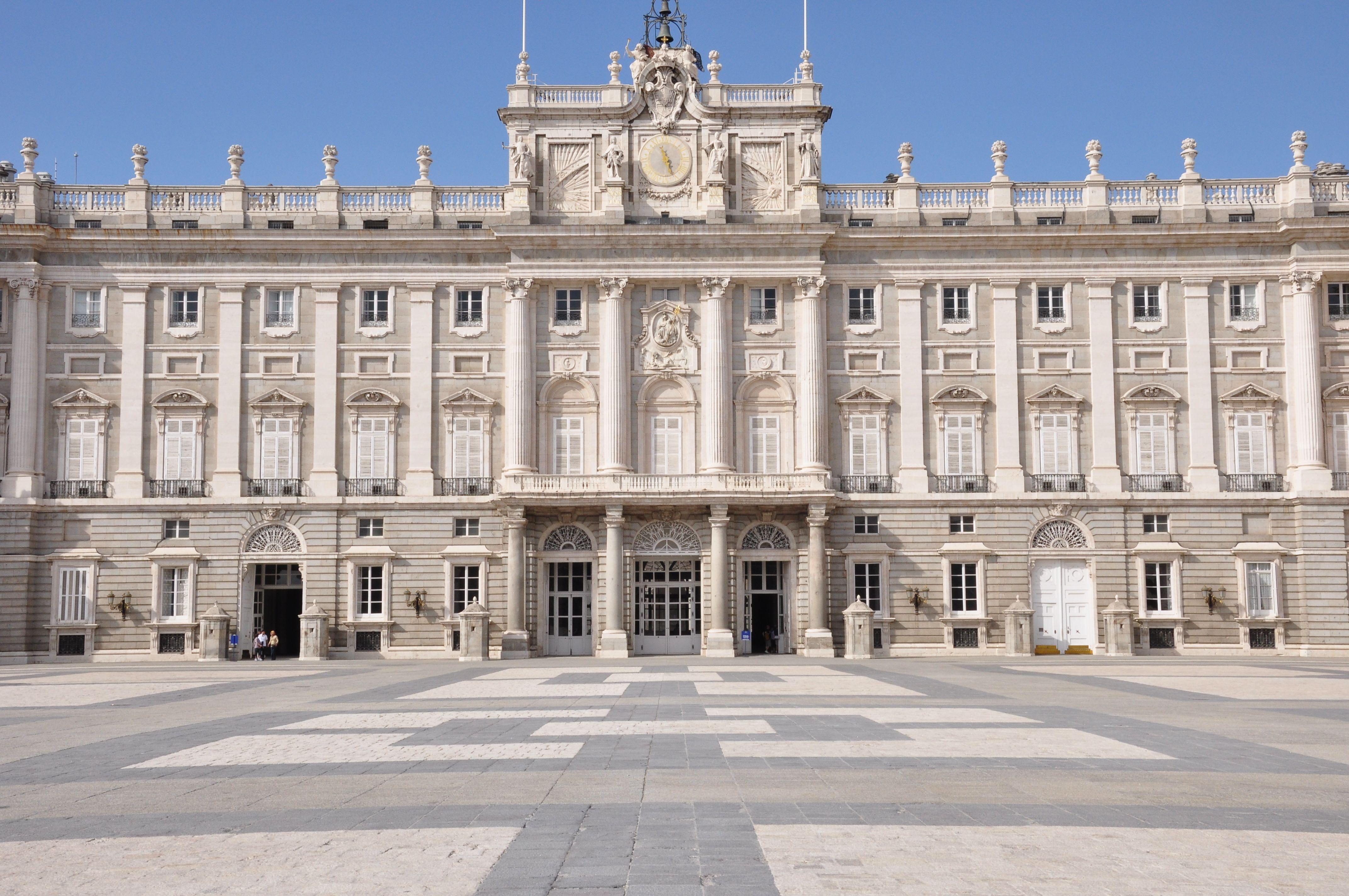 the royal palace of madrid spain with a surface of thousand square meters