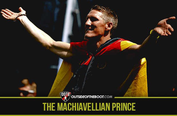 What makes Bastian Schweinsteiger such a prince? cabral opiyo answers. http://outsideoftheboot.com/2015/09/29/bastian-schweinsteiger-a-machiavellian-prince/?utm_content=buffer7a1c5&utm_medium=social&utm_source=pinterest.com&utm_campaign=buffer #BayernMunich #MUFC