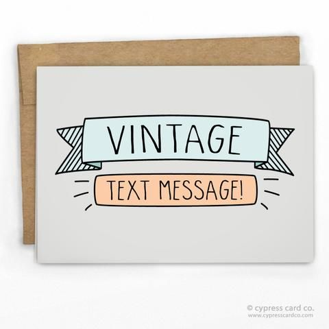 Funny vintage text message card by cypress card co wholesale funny vintage text message card by cypress card co wholesale greeting cards m4hsunfo