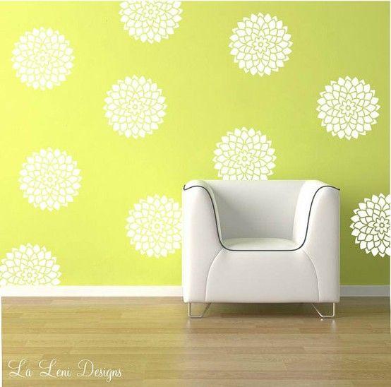 Bedroom wall decal Idea flowers   Decorate walls   Pinterest ...