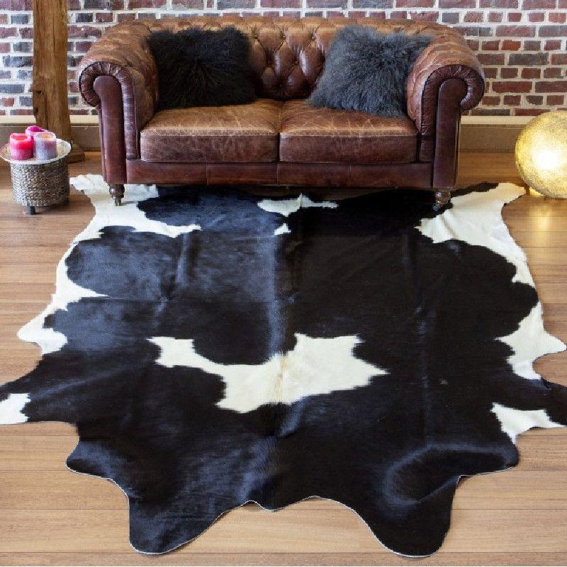 Peau De Vache Noir Et Blanc Tapis Peau De Vache Tapis Vache Vache Noire Et Blanche
