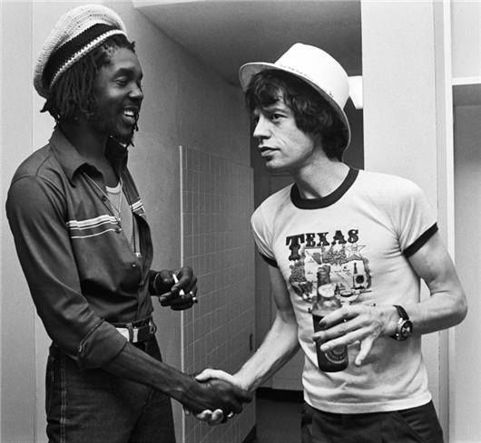 Peter Tosh + Mick Jagger