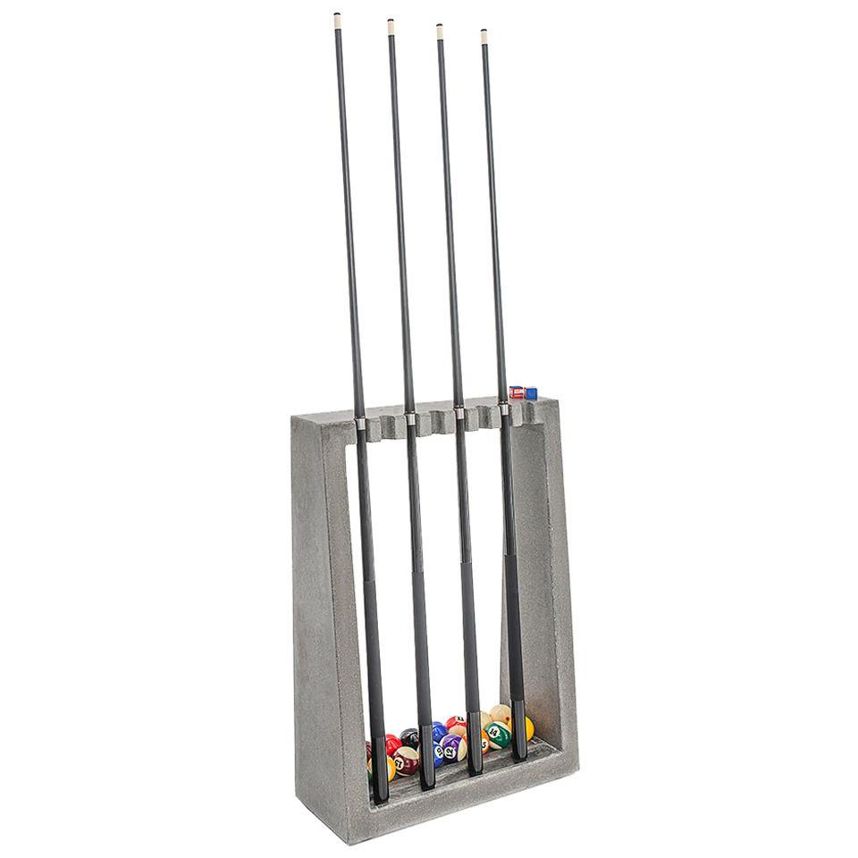 James De Wulf Cue Rack, Floor Standing Concrete Billiards ...