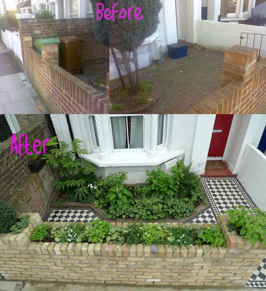 Lovely small victorian front garden | Interiors: Wash Park Tiny ...