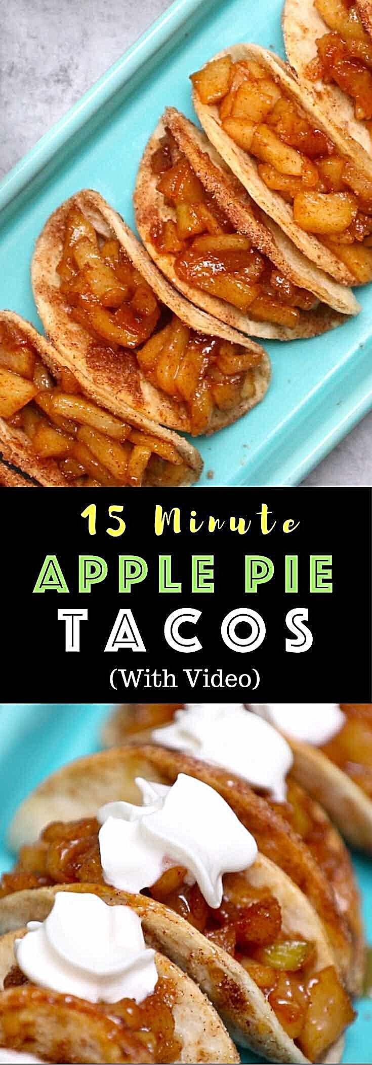 Super Easy Baked Apple Pie Tacos – delicious cinnamon sugary