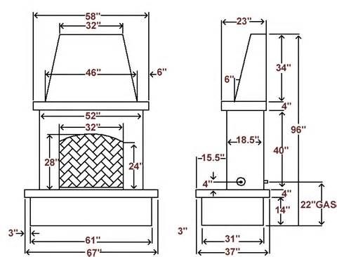 Image Result For Dimensions Of Outdoor Fireplace Project Nici