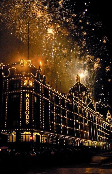 Harrods, London at Christmastime