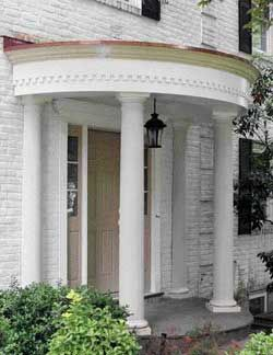 Building A Curved Portico Complete With Plans Add Instant Curb