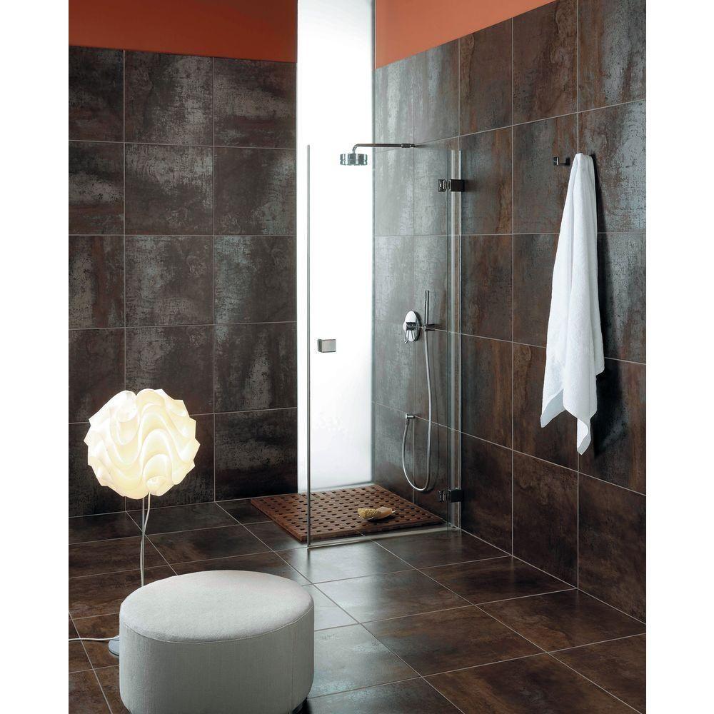 Msi Antares Saturn Coal 20 In X 20 In Glazed Porcelain Floor And Wall Tile 11 12 Sq Ft Case Nantnickel2020 Shower Tile Designs Bathroom Shower Tile Metal Tile