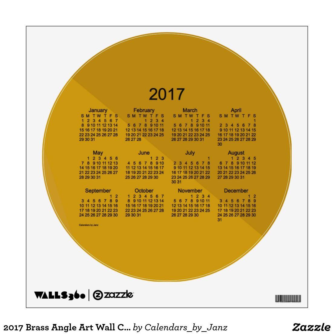2017 Brass Angle Art Wall Calendar by Janz Wall Sticker | Calendar ...