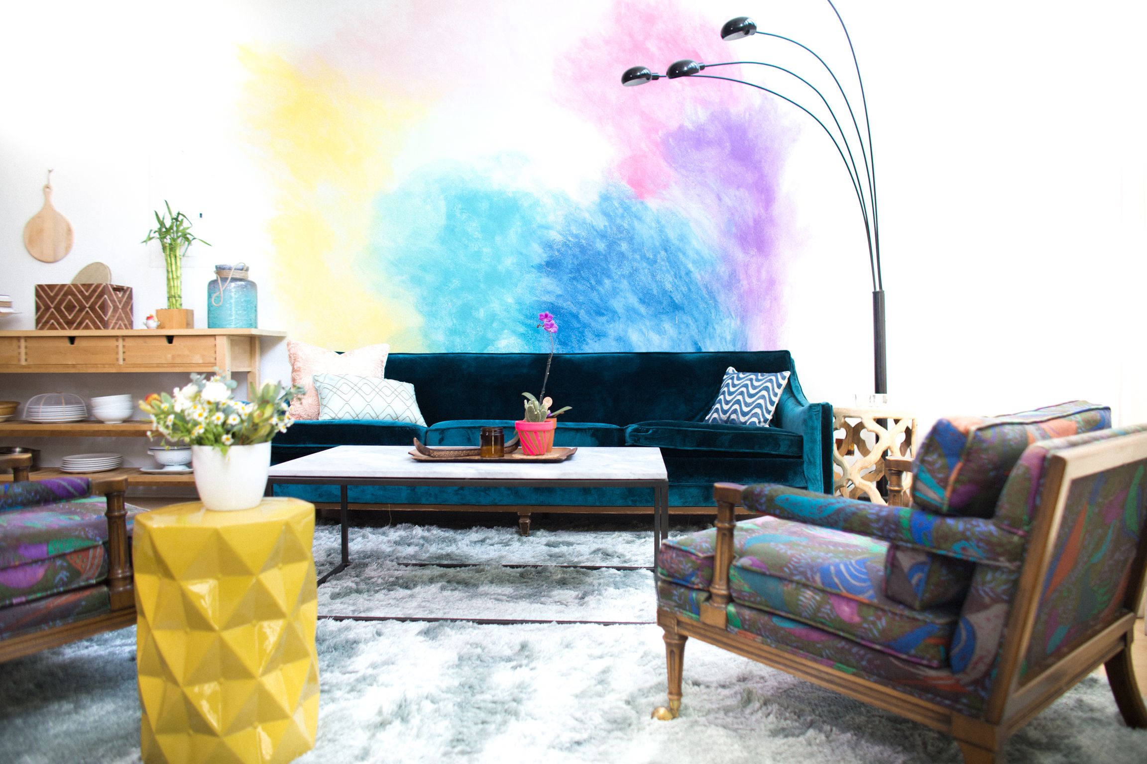 Diy Watercolor Mural Wall Watercolor Walls Decor Wall Murals