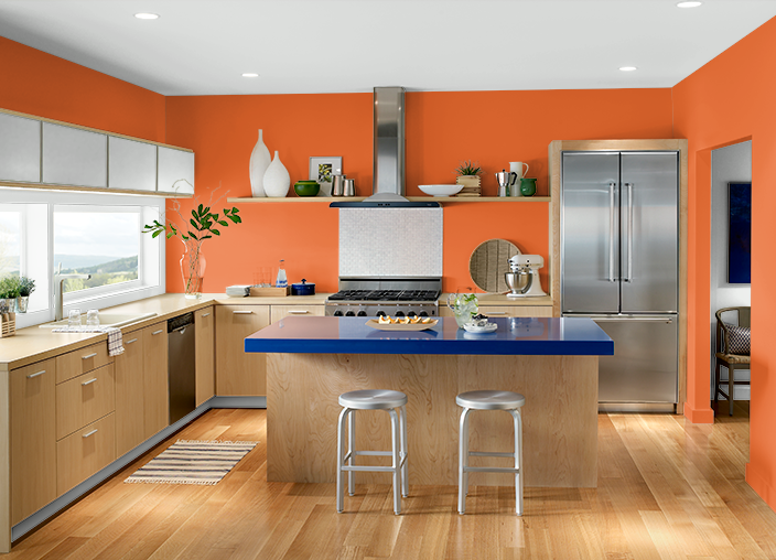 Pale Orange Kitchen this is the project i created on behr. i used these colors