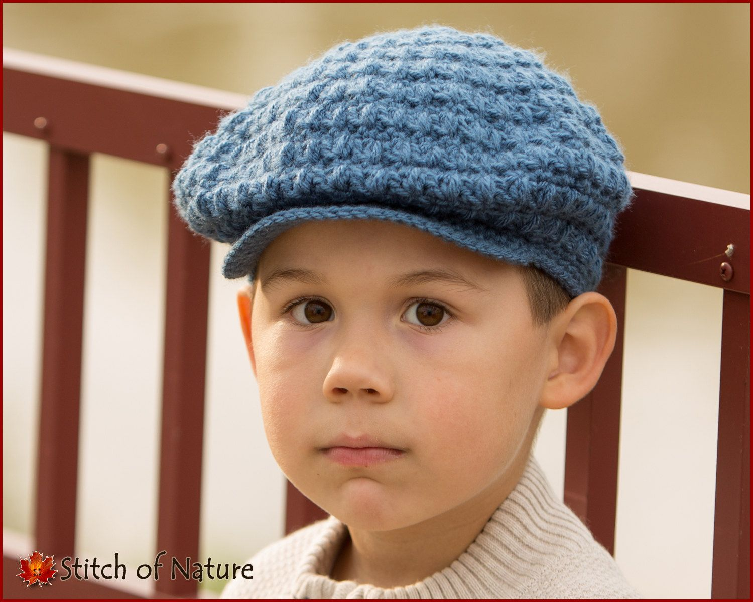 Dorable Newsboy Knit Hat Pattern Adornment - Sewing Pattern for ...