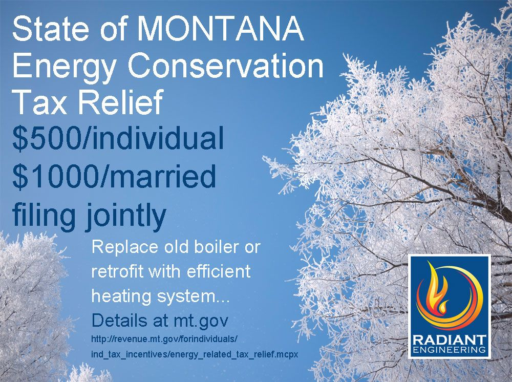 The state of Montana has a list of energy conservation tax