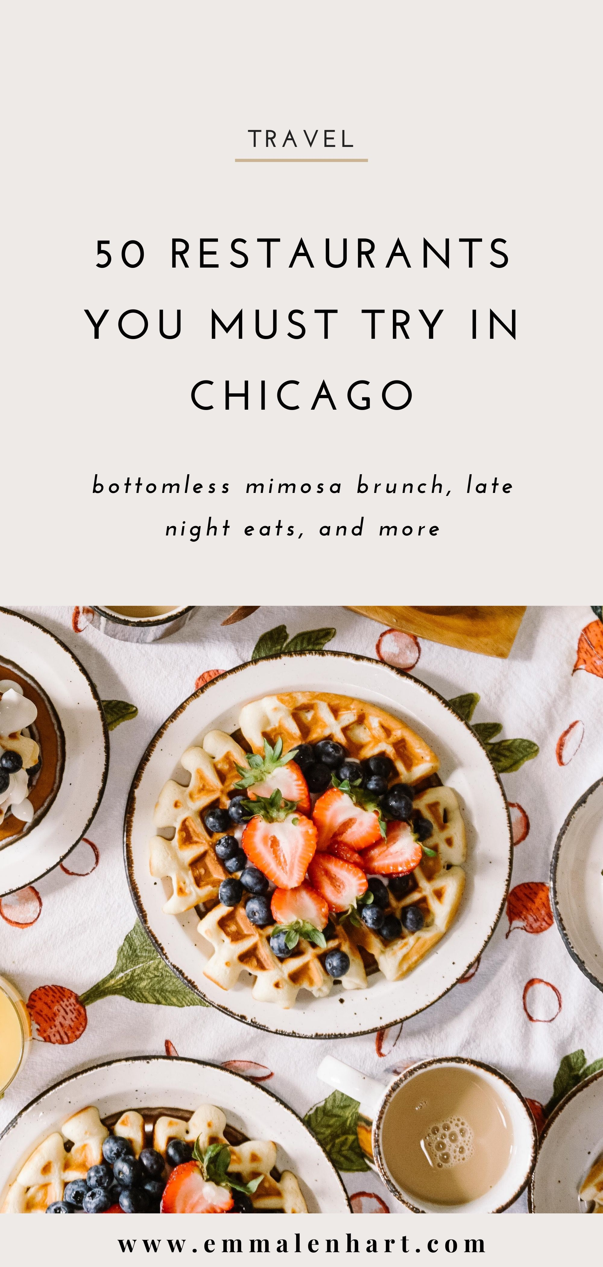 The Top 50 Restaurants You Must Try In Chicago Il In 2020 Food Guide Chicago Food Food