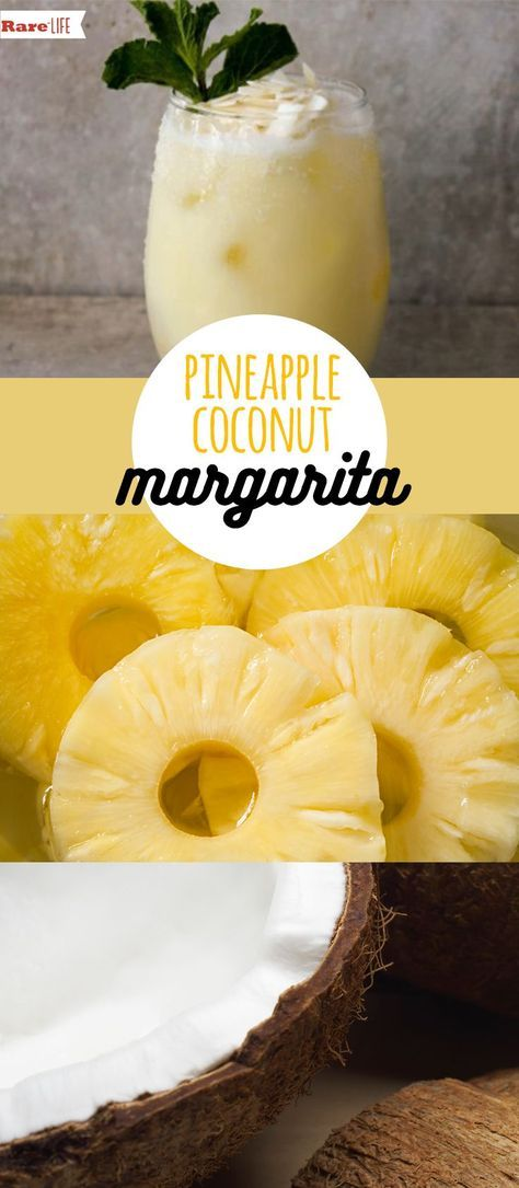 Can't Make It To The Beach? This Pineapple Coconut Margarita Will Make You Feel Like You're There! #tequiladrinks
