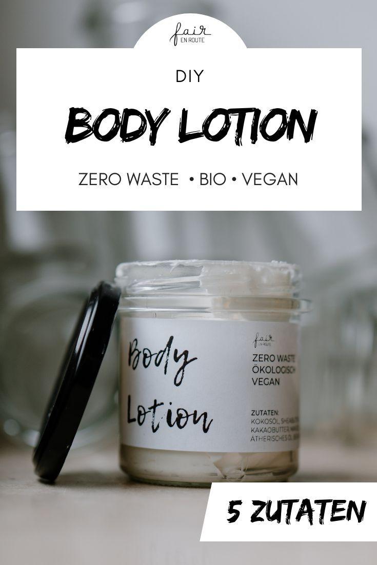 DIY: Body Lotion // Zero Waste & Vegan - fair en route #beautyproducts
