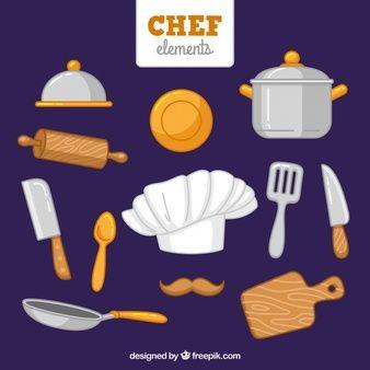 Gorro de chef dibujado a mano y otros art culos cocina for Articulos de chef