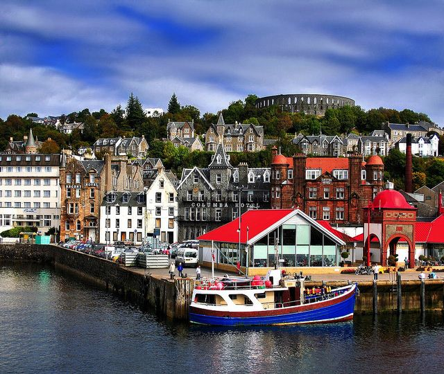 Oban, Scotland... we stayed in a wonderful b here -- wish we coulld have gone on to Iona, but didn't have the time