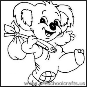 Koala Coloring Pages For Preschool