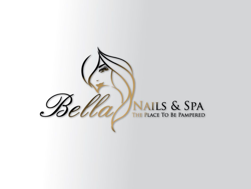 bella nail and spa logo design idea - Nail Salon Logo Design Ideas