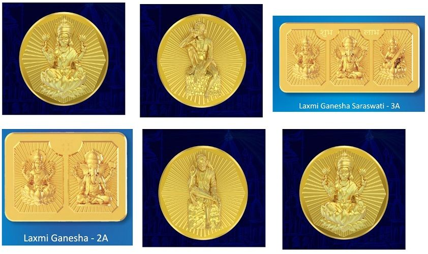 Panchdhatu (fusion of copper, zinc and tin) coins in 25 and