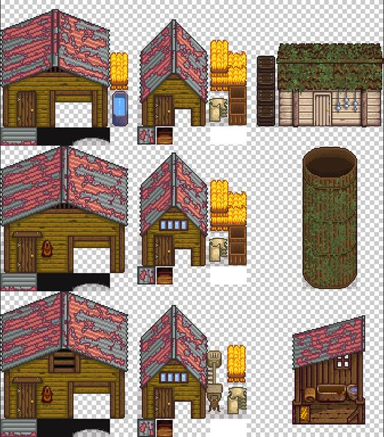 Mercurialmalcontent Farm Buildings To Match The Swamp Farmhouse Comes In Both New And Rusted Mossy Versions Roofs Deluxe Coop Farm Buildings Siding Silos