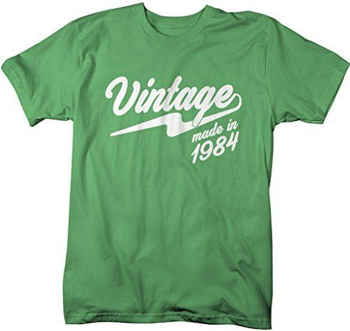 Shirts By Sarah Men's Vintage Made In 1984 T-Shirt Retro Birthday Shirts