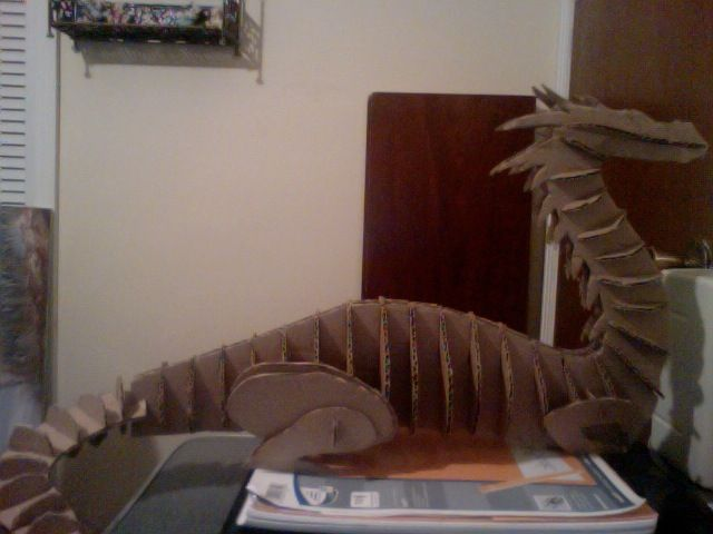 how to make a 3d dragon head out of cardboard