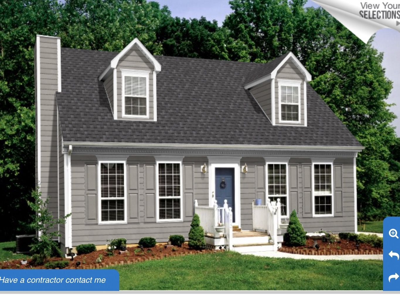 Granite Grey Siding Pewter Roof Snow White Trim House Paint Exterior House Colors House Siding