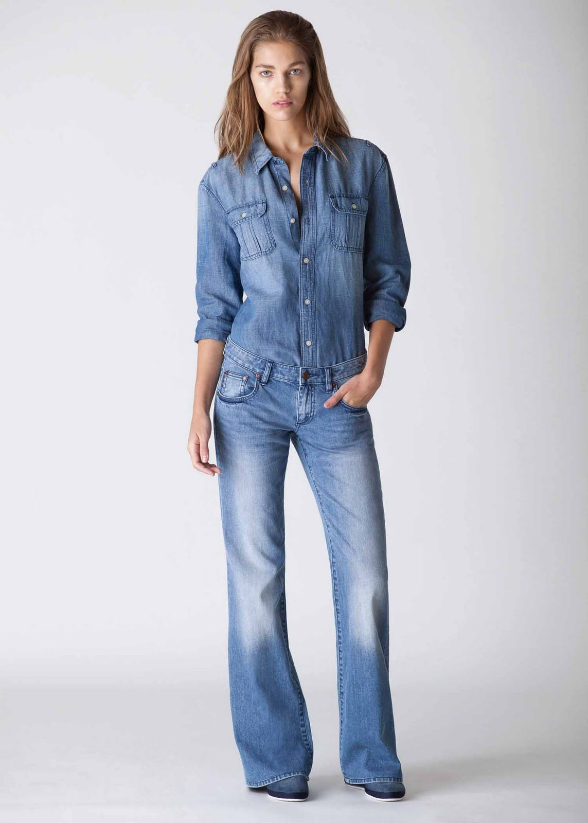 Images of Jean Shirts For Women - Reikian