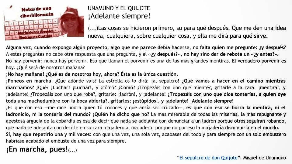 WebQuest de Resiliencia: UNAMUNO Y EL QUIJOTE