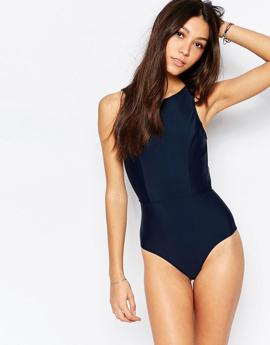392aeb860fc4e Image 3 of Jack Wills Open Back Oar Print Cut Out Swimsuit | Holiday ...