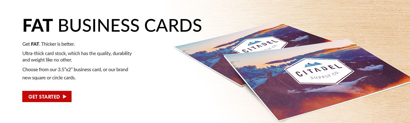Fat Cards are thicker and more durable than traditional business ...