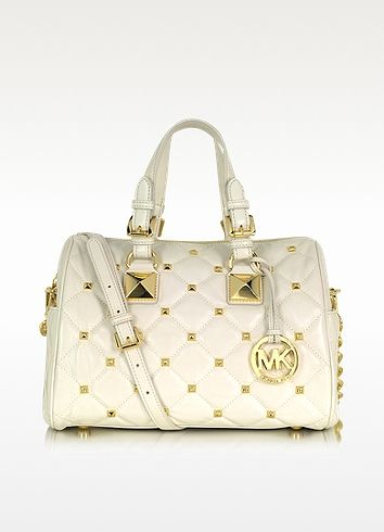 Michael Kors Grayson Quilted & Studded Leather Satchel