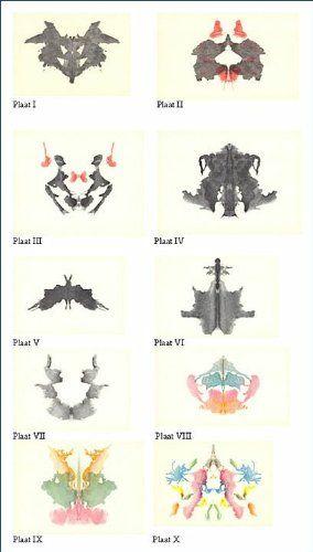 Rorschach test psychodiagnostics plates psychodiagnostik - Tavole di rorschach interpretazione ...