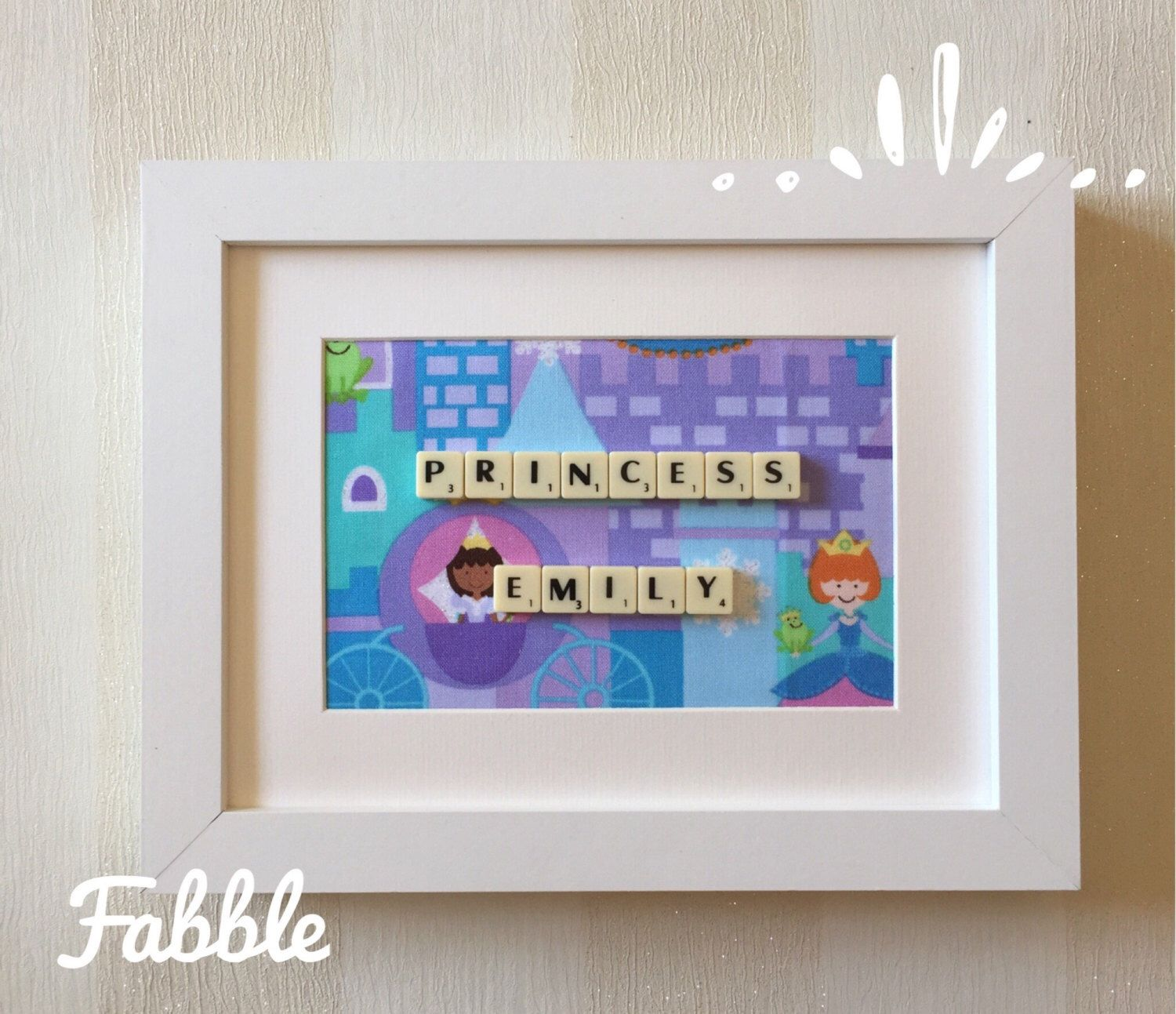 Tile Wall Decor Frozen Princess Inspired  Scrabble Tile Wall Decor  Elsa Themed