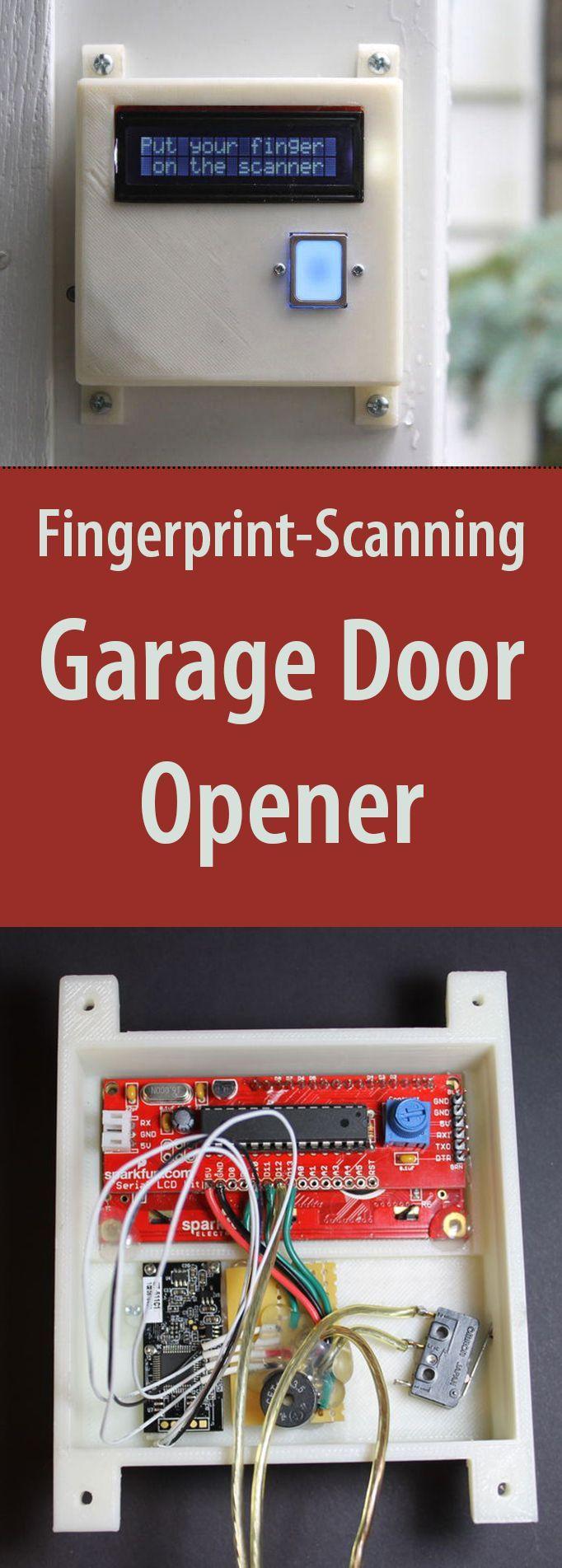 diy fingerprint scanning garage door opener tech key and doors