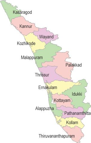 capital of kerala in india map Kerala Map Kerala India India Map Kerala Tourism Kerala capital of kerala in india map